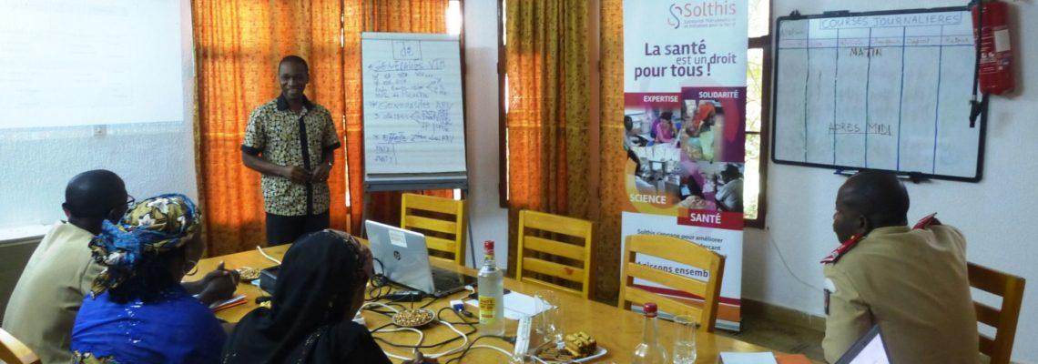 formation personnel infirmeries niamey et Say par Solthis au Niger sur financement UE