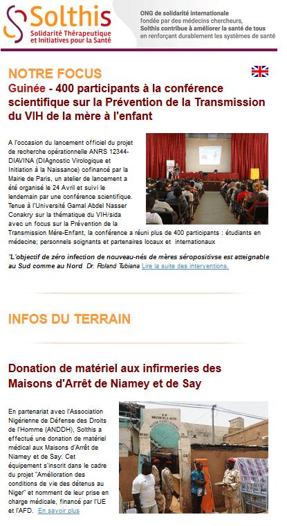 Actu santé Mondiale : nos info santé Mali, Niger , Sierra Leone, Guinée